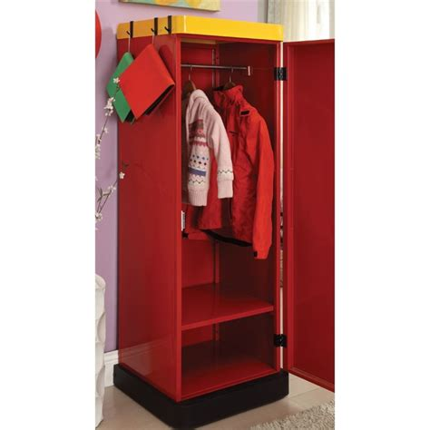 kids armoire wardrobe furniture of america mars metal kids wardrobe armoire in