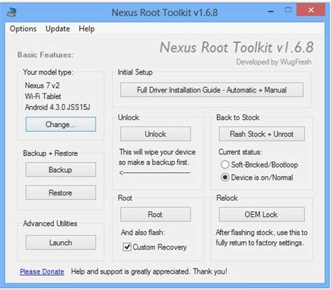 Android Toolkit by Root Your Nexus The Easy Way Nexus Root Toolkit Updated