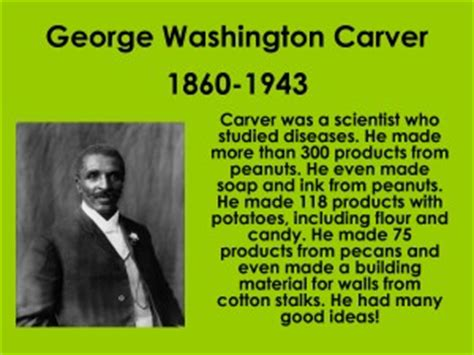 george washington biography list george washington carver quotes about science quotesgram