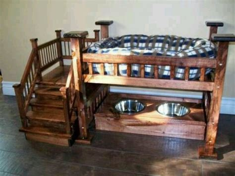 Bunk Bed For Dogs Bunk Bed And Feeding Station All In One How