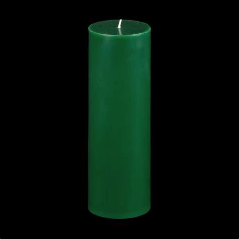 3x9 green pillar candle