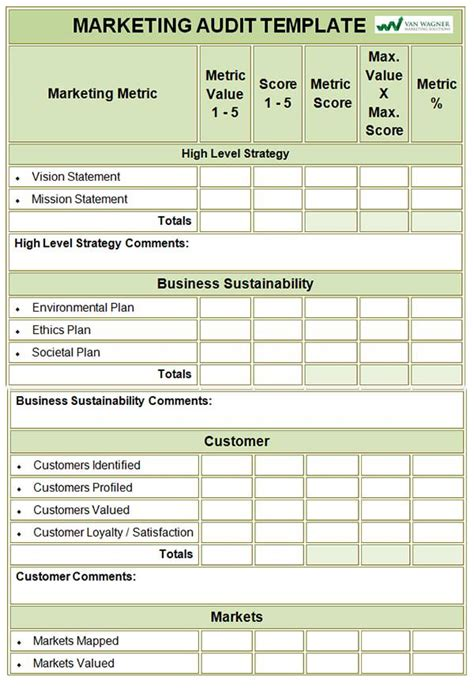 Marketing Audit Template 26 Free Word Excel Documents Audit Template Excel