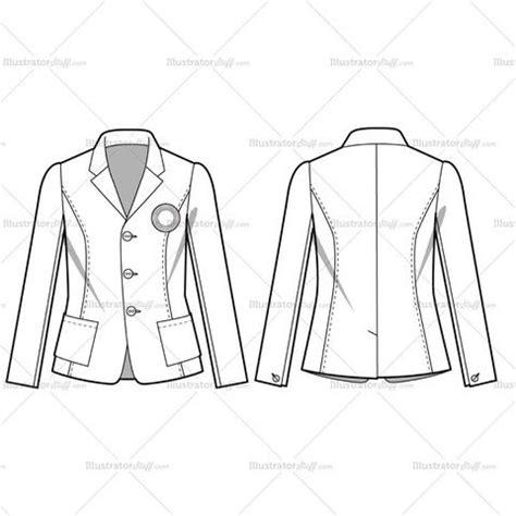 flat pattern not working in drawing women s casual blazer fashion flat template flats