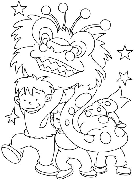 coloring pages for the chinese new year young children celebrate chinese new year coloring pages