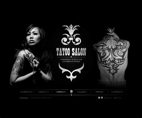 tattoo websites gallery flash template best website templates