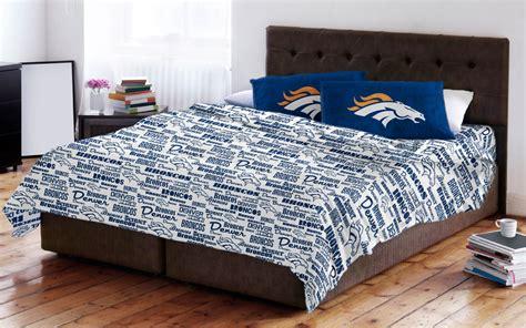Denver Broncos Bed Set Denver Broncos Sheet Set Nfl Anthem Bedding Sheets