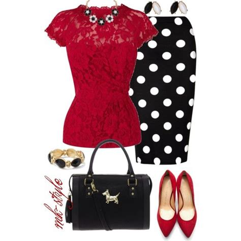 Cp Mk Polkadot polka dot lace created by mk style on polyvore quot dressing your quot type 4