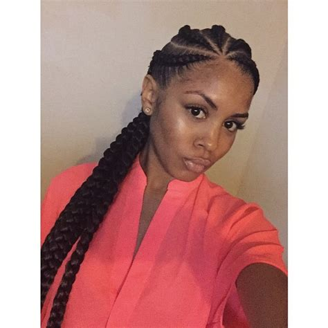 Big Braids Hairstyle by Big Box Braids Hairstyles Hairstyle 2013