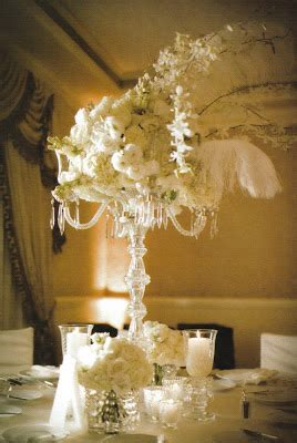 Blooms And Plumes Iii Centerpieces And Ostrich Feathers Centerpieces With Feathers And Flowers