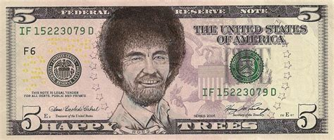 james charles bob ross forehead this artist transforms us banknotes into hilarious