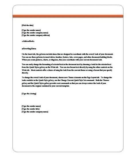 business letter template word  cyberuse