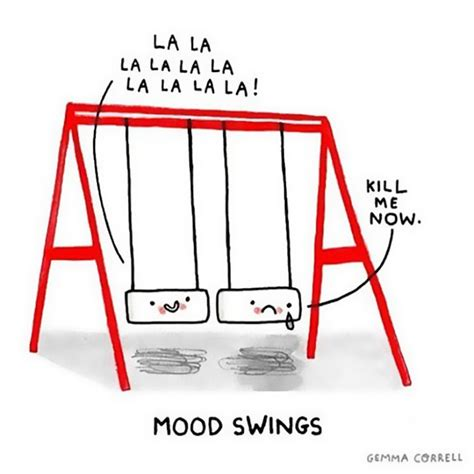 people with mood swings gemma correll an artist illustrates suffering from