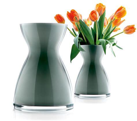 Mouth Blown Glass Vase Florentine Vase H 20 Cm H 20 Cm White By Eva Solo