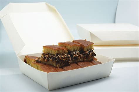 Lunch Box Paper L Box Makanan Kertas Take Away Box lunch box paper hamburger nasi goreng martabak small