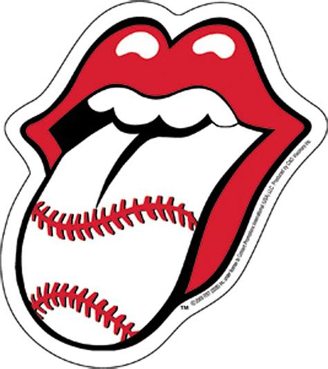 Rock Home Decor by The Rolling Stones Baseball Tongue Sticker