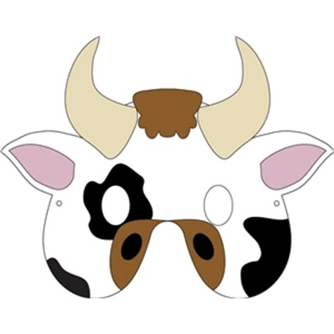 cow mask template silhouette design store view design 32275 cow mask