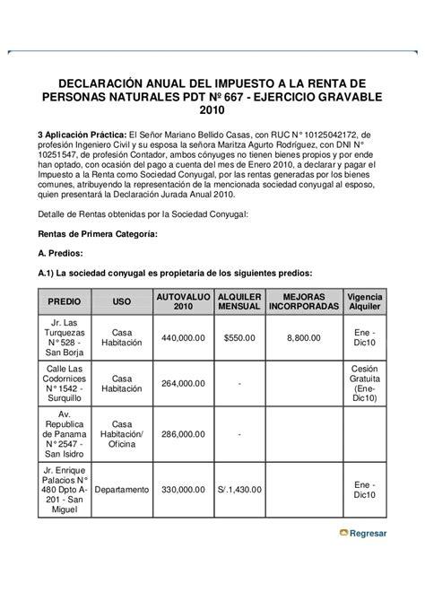 declasracion de impuestos tabulador declaraci 243 n anual del impuesto a la renta de personas