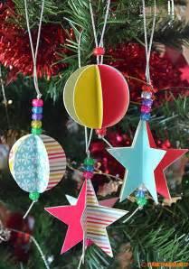 decorazioni albero di natale fai da te stelle e palline