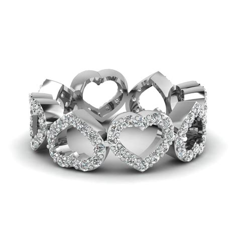 Wedding Bands With Hearts by Wedding Eternity Rings And Bands Fascinating