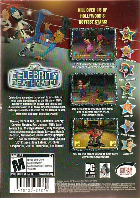 celebrity deathmatch game pc celebrity deathmatch gotham pc game mtv hollywood new