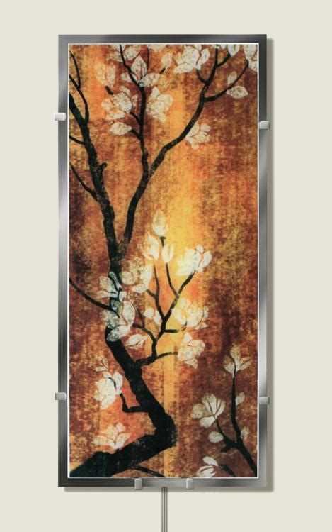 cherry blossom wall sconce light day view wall