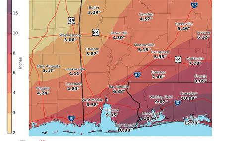 service alabama climate signals potential for flooding this week in parts of alabama
