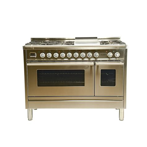 Oven Gas 60 X 40 hallman 48 in 5 0 cu ft oven dual fuel italian