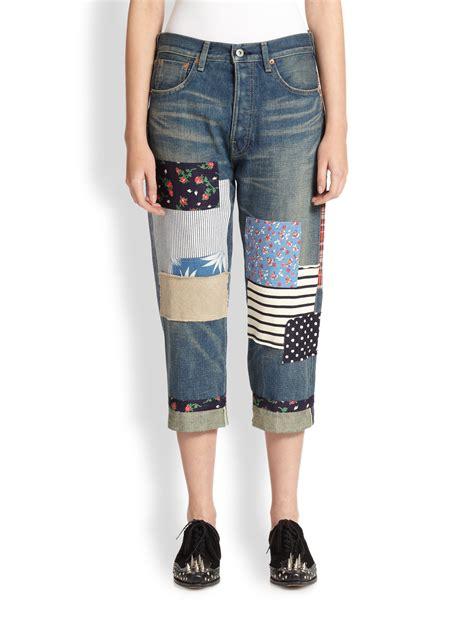 Patchwork Denim Shorts - junya watanabe patchwork in blue lyst