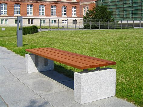 stone wood bench pacific stone bench union freiraummobiliar