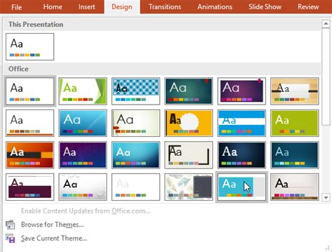 themes application com powerpoint 2016 applying themes www office com setup