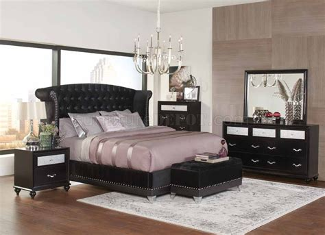 Coaster Furniture Bedroom Sets by Barzini 300643 Bedroom In Black By Coaster W Options