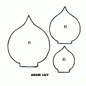 printable paper lily template lily arum flower calla lily pinterest template