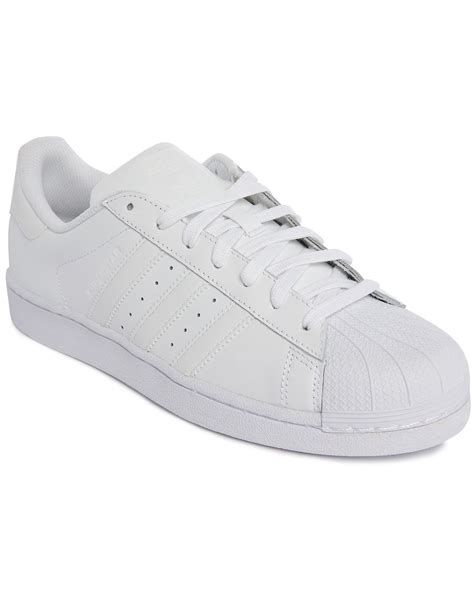 white mens sneakers adidas originals superstar classic mono white leather