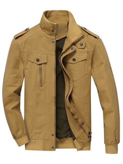 Khaki Jacket zip up jacket clothes khaki jackets coats m zaful