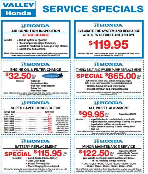 honda estore coupon service specials coupons valley honda il
