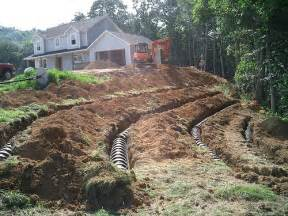 Backyard Drainage Pipe Septic System And Bathroom Drains Wastewater And