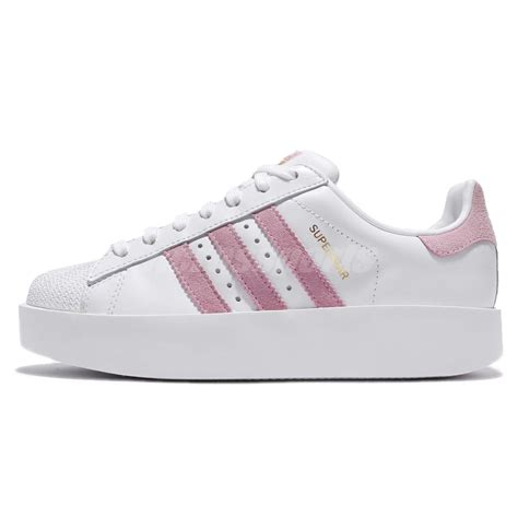 adidas originals superstar bold w platform white pink classic shoes by9076 ebay