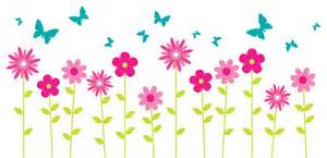 Flower wall decals floral wall decor butterfly wall decals wall