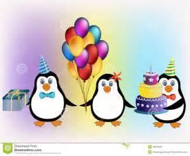 happy birthday penguins concept stock vector image 49842501
