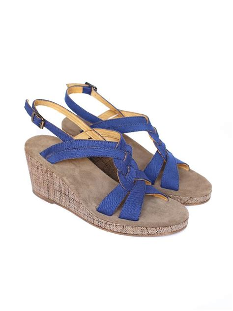 sandals blue wedge sandals