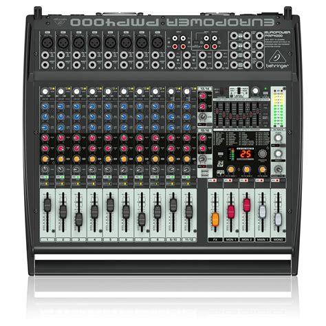 Mixer Lighting Behringer behringer pmp4000 europower mixer at gear4music