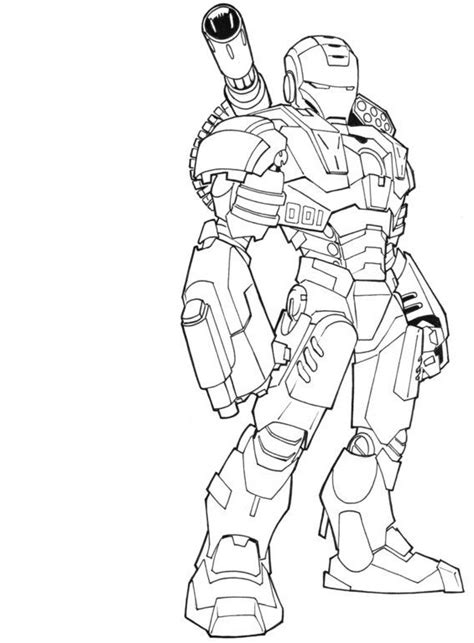 Super Hero Iron Man Coloring Page - Free Printable