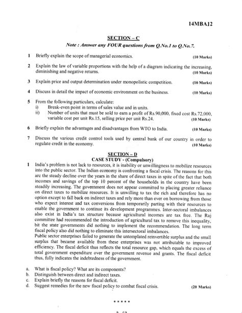 Davv Mba 1st Sem Papers by 1st Semester Mba June 2015 Question Papers