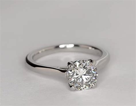 trellis solitaire engagement ring in platinum