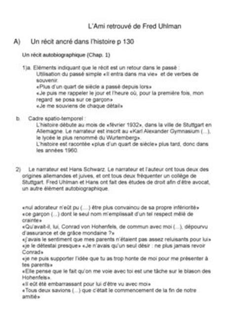 L Ami Retrouve Resume by Calam 233 O L Ami Retrouv 233 De Uhlman
