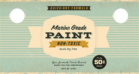 Vintage Paint Can Labels The Dieline Packaging Branding Design Innovation News Paint Can Label Template
