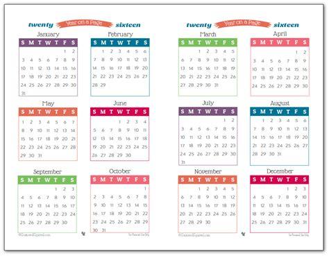 2017 Calendar Printable One Page