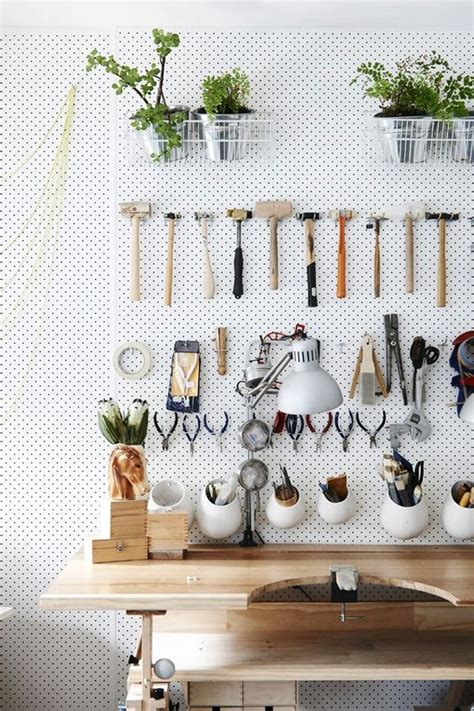 pegboard design 34 practical and comfortable garage organization ideas