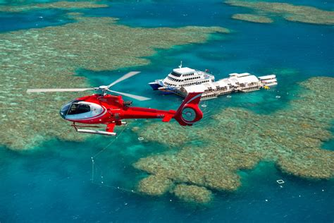 great barrier reef pontoon helicopter flight great barrier reef pontoon packages