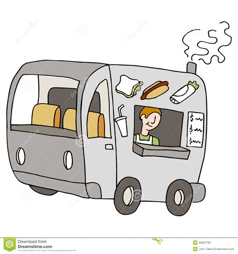 coq a doodle food truck food truck stock vector illustration of sandwiches coach